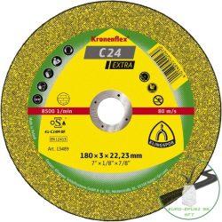 Klingspor C 24 EX Vágókorongok, 180 x 3 x 22,23 mm egyenes