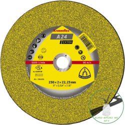 Klingspor A 24 EX Vágókorongok, 230 x 3 x 22,23 mm egyenes
