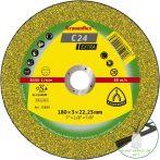 Klingspor C 24 EX Vágókorongok, 115 x 2,5 x 22,23 mm egyenes