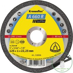 Klingspor A 660 R Vágókorongok, 125 x 1 x 22,23 mm egyenes