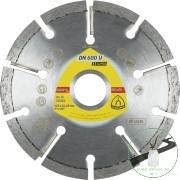 Klingspor DN 600 U Gyémánt vágókorongok, 115 x 6 x 22,23 mm 9 Szegmensek 32 x 6 x 7 mm, Standard fogazás