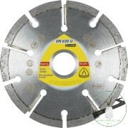Klingspor DN 600 U Gyémánt vágókorongok, 115 x 8 x 22,23 mm 9 Szegmensek 32 x 8 x 7 mm, Standard fogazás