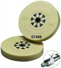 3M CLEAN AND STRIP hántolókorong tengellyel, bézs, 100mm x 16mm, Tömör Fóliaradír tengellyel
