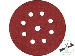 Vsm tépőzáras csiszolótárcsa 150mm  P120 572B/C7K 8+1 lyuk